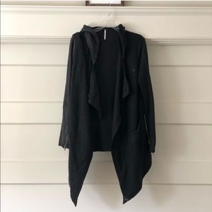 Black free people wool blend coat